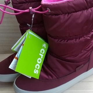 crocs - クロックス CROCS レディース ロングブーツ WINTER lodgepoi