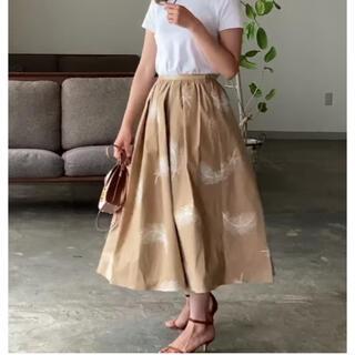 ドゥロワー(Drawer)のsherryさま専用セブンテン フェザーモチーフ刺繍スカート(ひざ丈スカート)