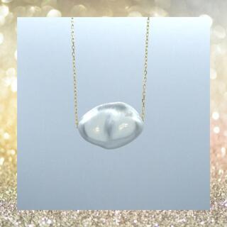 大粒❗️1粒 ケシパール  k18yg イエローゴールド ネックレス ペンダント(ネックレス)