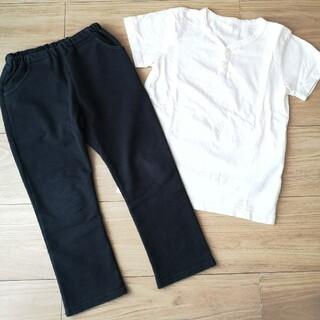ムジルシリョウヒン(MUJI (無印良品))の無印良品★パンツ&Tシャツ 110 キッズ(Tシャツ/カットソー)