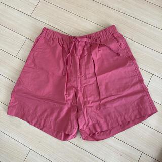 ムジルシリョウヒン(MUJI (無印良品))の無印良品 インド綿ブロードショートパンツ 婦人M・赤(ショートパンツ)