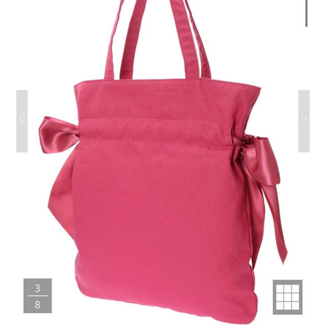 Maison de FLEUR(メゾンドフルール)のMaison de FLUER ピンクマニア ダブルリボントートバッグ レディースのバッグ(トートバッグ)の商品写真