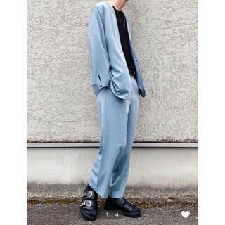HARE - HARE セットアップ ノーカラーシャツ/セミワイドパンツ