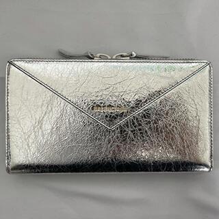 バレンシアガ(Balenciaga)の新品 BALENCIAGA  バレンシアガ シルバー 長財布(財布)