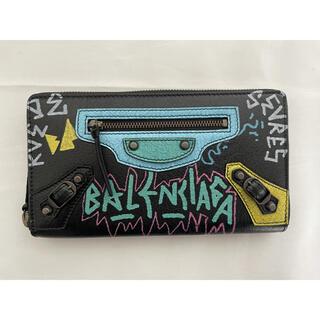 バレンシアガ(Balenciaga)の新品 BALENCIAGA  バレンシアガ ブラック グラフティ 長財布(長財布)