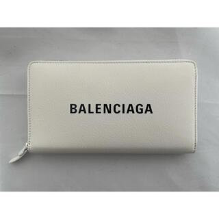 バレンシアガ(Balenciaga)の新品 BALENCIAGA  バレンシアガ ホワイト 長財布(財布)