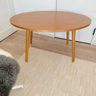 ウニコ(unico)の麻様専用♡ウニコ アルベロ カフェテーブルとローテーブルの脚付き(ダイニングテーブル)