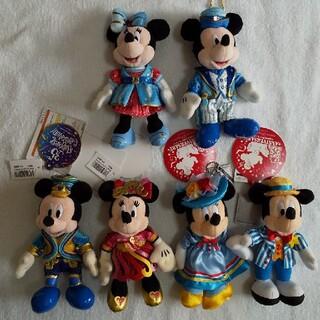 ミッキーマウス(ミッキーマウス)の【ラスト値下げ】ミッキー&ミニーぬいば🌟6体セット🌟💮(キャラクターグッズ)