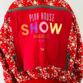 ピンクハウス(PINK HOUSE)のピンクハウス❤️薔薇柄ゼッケン付きブルゾン(ブルゾン)