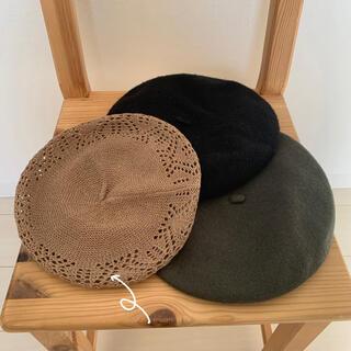 レイビームス(Ray BEAMS)のRay BEAMSベレー帽(茶)(ハンチング/ベレー帽)