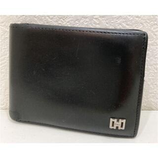 サルヴァトーレフェラガモ(Salvatore Ferragamo)のフェラガモ レザー 二つ折り財布 黒(折り財布)