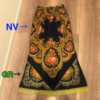 アクアブルー(Aqua blue)の[お値下中]2-side wool スカート★ペチコート付(ロングスカート)