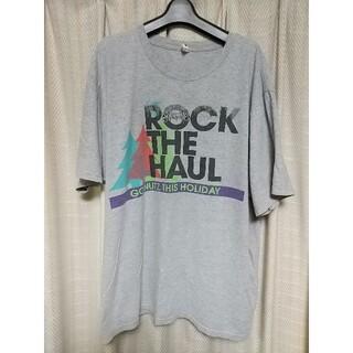 アンビル(Anvil)のanvil プリント 半袖Tシャツ XLサイズ グレー アンビル アメカジ 古着(Tシャツ/カットソー(半袖/袖なし))