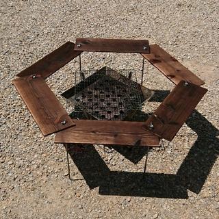 UNIFLAME - BBQ ヘキサテーブル 91×91cm 【組立簡単、軽量、収納コンパクト】