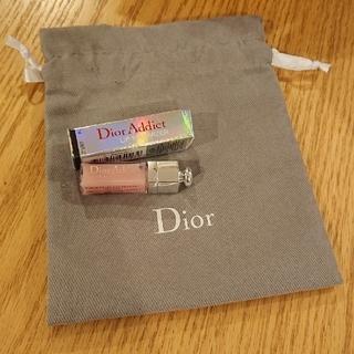 ディオール(Dior)の新品未使用❗リップマキシマイザー ミニサイズ&巾着セット(リップグロス)