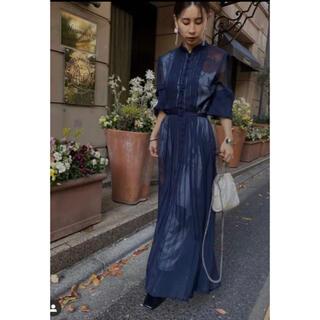 アメリヴィンテージ(Ameri VINTAGE)の新品 アメリAmeri vintage ELLA VEIL DRESS ネイビー(ロングワンピース/マキシワンピース)