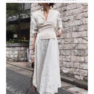 アメリヴィンテージ(Ameri VINTAGE)の美品 ameri WASHI LAYERED DRESS アメリヴィンテージ(ロングワンピース/マキシワンピース)