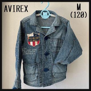 アヴィレックス(AVIREX)のAVIREX アヴィレックス キッズデニムジャケット Ⅿ(120)(ジャケット/上着)