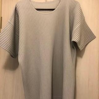 イッセイミヤケ(ISSEY MIYAKE)のグレーシャツ&ボタンシャツ 2枚セット(Tシャツ/カットソー(七分/長袖))