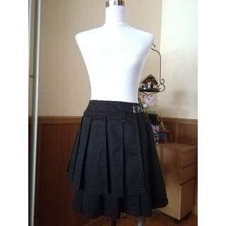 ビーピーエヌ(BPN)のBPN アシメデザインプリーツラップスカート(ひざ丈スカート)