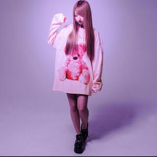 ミルクボーイ(MILKBOY)のトラバストーキョー トラヴァス travas tokyoくまビッグロングTシャツ(Tシャツ/カットソー(七分/長袖))