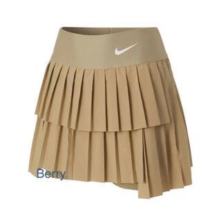 ナイキ(NIKE)の☆新品☆ NIKE 2021年新作 テニスウェア スコート beige US-S(ウェア)