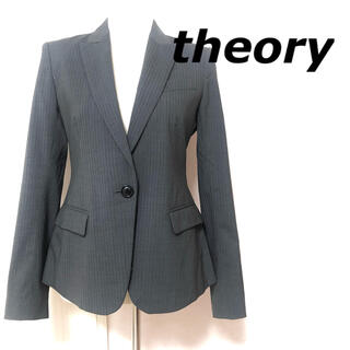 theory - 美品 theory テーラードジャケット シングル ピンストライプ グレー M