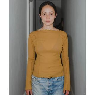 エディットフォールル(EDIT.FOR LULU)のBaserange Omato Long SleeveロンT新品オレンジSサイズ(Tシャツ/カットソー(七分/長袖))