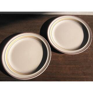 ニッコー(NIKKO)のニッコー カラーストーン 昭和レトロ サークルライン ストーンウェア 大皿2枚(食器)