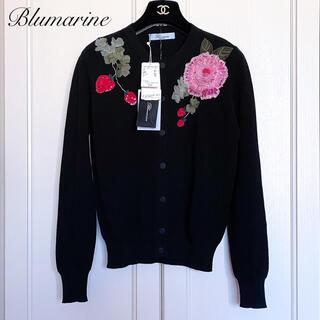 ブルマリン(Blumarine)のご成約済みです♡新品タグ付【Blumarine】フラワーモチーフ刺繍カーディガン(カーディガン)