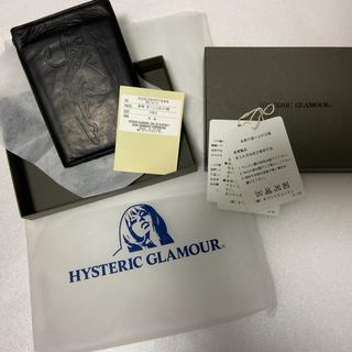 ヒステリックグラマー(HYSTERIC GLAMOUR)のhysteric glamour 二つ折り牛革 レザーウォレット 定価19800(折り財布)