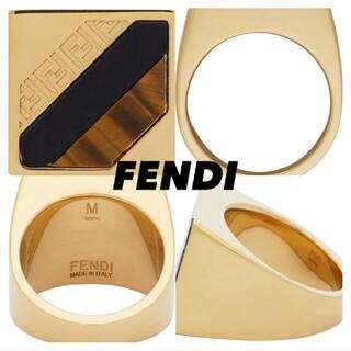 フェンディ(FENDI)のゴールドForever fendi シグネットリング(リング(指輪))
