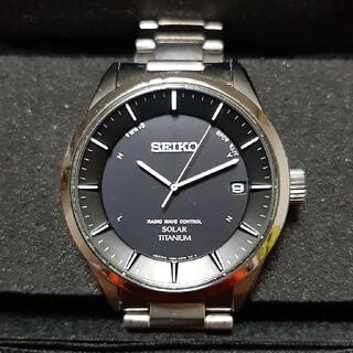 セイコー(SEIKO)のセイコー ソーラー電波時計 チタン 7B24(腕時計(アナログ))