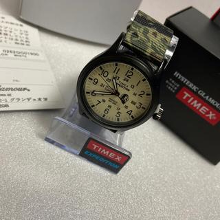 ヒステリックグラマー(HYSTERIC GLAMOUR)の美品hysteric glamour TIMEX EXPEDITION ホワイト(腕時計(アナログ))