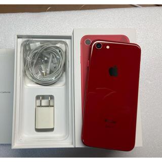 アイフォーン(iPhone)のiphone8 Red 64Gb Simフリーバッテリー100% 超美品(スマートフォン本体)