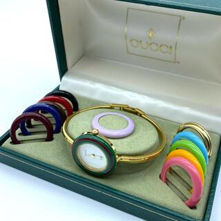 グッチ(Gucci)のGUCCI 新品電池 チェンジベゼル サイズM  レディース腕時計(腕時計)