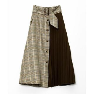 アズノゥアズピンキー(AS KNOW AS PINKY)のアズノウアズピンキー チェック アシンメトリー スカート(ひざ丈スカート)
