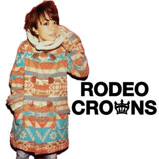 ロデオクラウンズ(RODEO CROWNS)の【新品レア!!】RODEOCROWNSロデオクラウンズ☆オルテガ柄ダッフルコート(ダッフルコート)