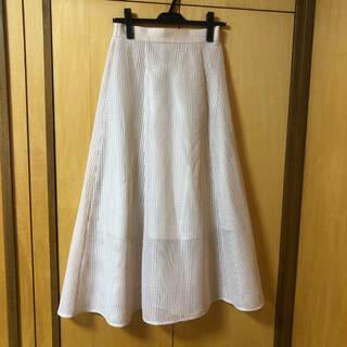 ページボーイ(PAGEBOY)の春夏もの PAGEBOY メッシュレーススカート(ひざ丈スカート)