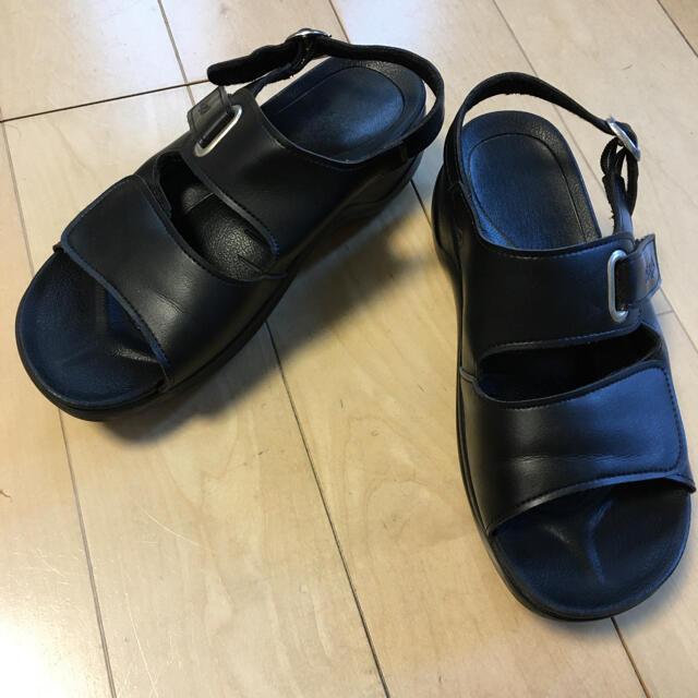 Re:getA(リゲッタ)のRe:getA ナースサンダル 黒 M レディースの靴/シューズ(サンダル)の商品写真