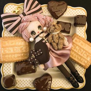 ◆チャチコチャーム◆ハンドメイドドールチャームバッグチャームバレンタインピンク(人形)