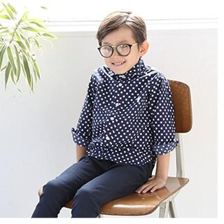 coen - 新品・未使用  120cm 入学式 男の子 ドットシャツ Coen