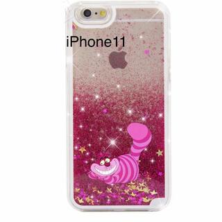 フシギノクニノアリス(ふしぎの国のアリス)の新品iPhone11ディズニーDisneyチシャ猫不思議の国猫グリッター(iPhoneケース)