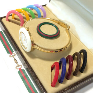 グッチ(Gucci)の1.美品 グッチ GUCCI 時計 チェンジベゼル(腕時計)