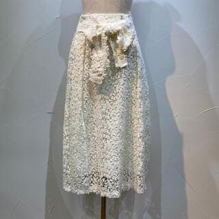 インゲボルグ(INGEBORG)のインゲボルグ 定価6万4900円 鈴蘭柄の総綿レース生地スカート(ロングスカート)