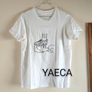ヤエカ(YAECA)のYAECA 加賀美健イラスト Tシャツ(Tシャツ/カットソー(半袖/袖なし))