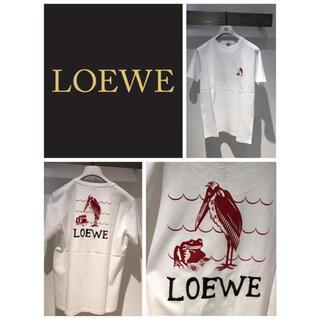 ロエベ(LOEWE)のロエベ ユニセックス 背後アニマル柄 ロゴ入り Tシャツ (シャツ)