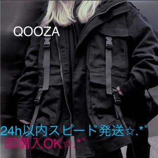 ミルクボーイ(MILKBOY)のQOOZA ミリタリージャケット オーバーサイズ 地雷系 量産型 ストリート(ブルゾン)