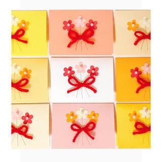 メッセージカード♡ミニブーケ(カード/レター/ラッピング)