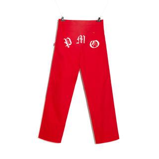 ピースマイナスワン(PEACEMINUSONE)のPMO WORK PANTS #1 RED (ワークパンツ/カーゴパンツ)